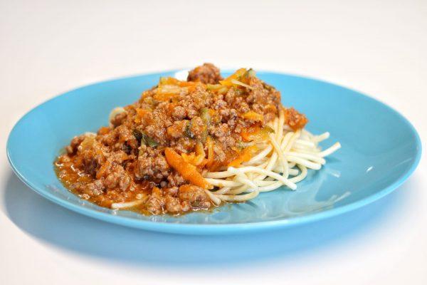 Bolonhesa de Soja e Legumes com Esparguete